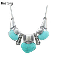 Wholesale Exotic Turquoise Jewelry - Wholesale-Vintage Jewelry Tibet Alloy Antique Silver Plated Moveable Exotic Pendant Turquoise Necklace N121