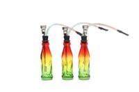 tubo de garrafa de coque venda por atacado-Criativo tubo de filtro de fumo popular única garrafa de vidro Coca-Cola tubos, bongos de vidro atacado, acessórios de vidro hookah, cor de entrega aleatória,