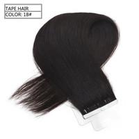echte gerade indische haarverlängerung groihandel-Grade 7A - Hauteinschlag Wirklich Glattes Haarverlängerung 100% Echthaarfreies Haar frei von Unreinheiten Keine Verwicklung, 2,5 g pro Stück 40 Stück pro Packung