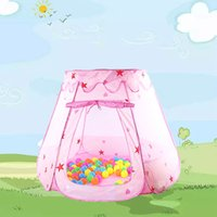 ingrosso grande casa di tenda all'aperto-New Lovely Big Princess Tenda da gioco per bambini Toy Play House Giocattoli per bambini Indoor Outdoor Tenda per bambini Regalo di Natale giocattolo