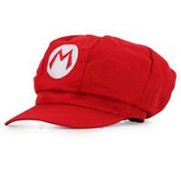 Wholesale Mario Bros Cosplay - Super Mario Bros Cosplay Cap 5 Colors Supermario Octagonal CAp Baseball Hats Adult Cartoon Hat 188