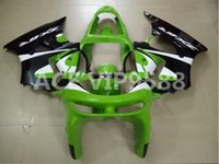 Wholesale Kawasaki Zx6r Fairings 98 - 3gifts Fairing Kit for KAWASAKI Ninja ZX6R 636 98 99 ZX 6R 1998 1999 zx6r Compression mold Fairings set green APV9