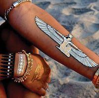 Wholesale Love Design Beauty - 45 Design Gold Temporary Flash Metal Tattoo Sticker Beauty Butterfly Feather Love Women Henna DIY Body Art Waterproof Tattoo