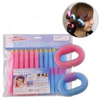 New Soft Sponge Hair Curler Roller Hair Bendy Rollers Bricolage Magic Hair Styling Tool 12pcs / lot Livraison gratuite