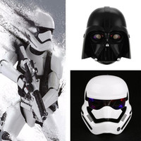 Wholesale Dress Up Masks - 2 Colors Mask Star Wars LED Light Stormtrooper Mask Helmet Dress Up Costume Halloween Masquerade Party Cosplay Black White