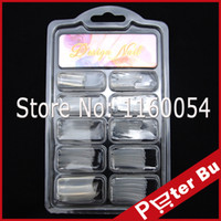 Wholesale dual form system nails for sale - New False Nails Tips DUAL clear Color NAIL ART SYSTEM FORM ACRYLIC False TIPS Tools Set