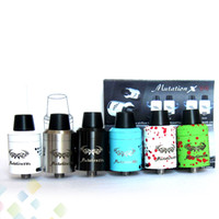 Wholesale New Design Tips - New Design Mutation X V4 RDA Atomizers Mutation X V4 RDA Clone Rebuildable Atomizer With Wide Bore Drip tips DHL Free