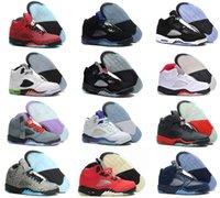 Wholesale Space Beans - High Quality air retro 5 Basketball shoes Mens space jam Green Bean Stealth Green Bean Mark Ballas Sneakers Athletics Boots