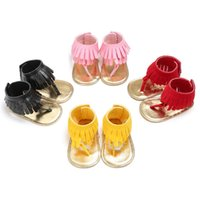 Wholesale Infant High Tops - Baby sandals summer Tassel Boys Girls Casual Shoes Cute Toddler First Walkers newbor floor shoes Multicolor high top Infant shoes C1452