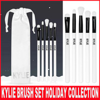 Wholesale Synthetic Cosmetic Brush Sets - Newest Kylie Brush Set The Limited Edition Holiday Collection 5pcs synthetic brushes for Kyshadow Kylie Cosmetics brush Christmas gift