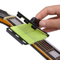 Wholesale Wholesalers Musical Instruments - wholesale Acoustic Electric Bass Guitar String Cleaner Ukulele Banjo Quick-Set Brush Tool for Stringed Musical Instruments
