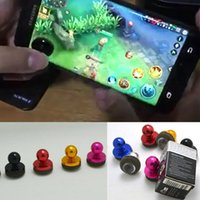 Jogos de Joystick Móvel Direção Rocker Dual Stick Controller Game Joysticks Handles Reusable Screen Sucker para iPhone Android DHL Free