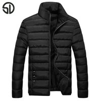 Wholesale Mens Fitted Casual Coats - Wholesale- Hot Sale 2017 New Fashion cotton-padded Men Clothes Trend College Slim Fit High-Quality Casual Mens And Coats M-4XL campera men