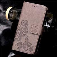 capa para telefone flip lg g3 venda por atacado-Trevo de quatro folhas caso para lg g3 capa LG G3 Stylus Flip carteira caso LG G3 capa telefone Coque Hoesjes PU couro