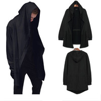 Wholesale Cloak Outerwear - Wholesale-New Original design men clothing sweatshirt spring autumn Hip Hop swag hoodie man hood cardigan mantissas black cloak outerwear