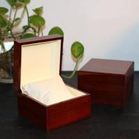 relojes de almohada al por mayor-Caja de relojes de lujo caja de reloj de madera de lujo con caja de paquete de almohada cajas de regalo de reloj Reloj de lujo Cajas de madera