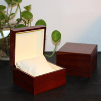 luxus uhrenverpackung großhandel-Mode Uhren Box Luxus Holz Uhrenbox mit Kissen Paket Fall Uhr Geschenkboxen Luxus Uhr Holzkisten