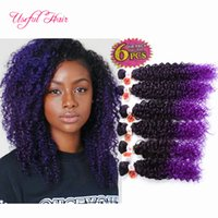 Wholesale curly braiding hair weave for sale - Group buy Big promotion Black FRIDAY Christmas ombre color Synthetic hair wefts Jerry curl crochet hair extensions crochet braids hair weaves