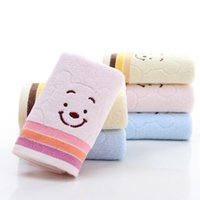 Wholesale Embroidery Hand Towel - Embroidery Smile Face Pure Cotton Towel Good Quality Face Cloth Hand Towel Home Bathroom Use 35*75CM Factory Price