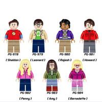 Wholesale Amy Toys - Building Blocks Minifigures Action Bricks The Big Bang Theory Sheldon Penny Amy Leonard Kids Christmas Gift DIY Toys 7pcs set PG8025