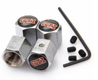 Wholesale Rline Emblem - Lockable Black Silver Color Anti-Theft Dust Cap Tire valve caps Badges Emblems for GTI ABT Rline Racing
