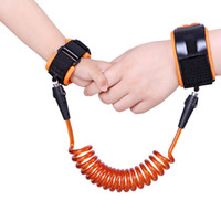 Wholesale 1 m m Blue or Orange Toddler Baby Kids Safety Harness Child Leash Anti Lost Wrist Link Traction Rope