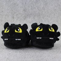 1 Pair Night Night Fury Como Treinar o seu Dragão Indoor Slippers Plush Shoes Warm Winter Adult Slipper Toy Christmas Gift