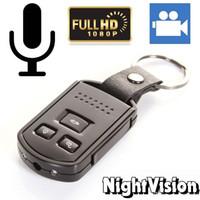 llaveros grabadores de video al por mayor-Full HD 1080P Llave del coche Cámara Z4 Detección de movimiento IR Visión nocturna Agujero de la cámara Mini grabadora de video con llavero de auto con caja de venta al por menor