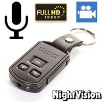 Wholesale Mini Video Camera Night Motion - Full HD 1080P Spy Car Key Camera Z4 Motion Detection Night Vision Hidden Camera Mini Keychain video recorder with retail box