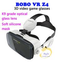 coussinets pour lunettes achat en gros de-BOBOVR Z4 Lunettes de jeux vidéo de réalité virtuelle compatibles 4,7 à 6,2 pouces Smartphone Accessoire Multifonction Tablette de jeu Bluetooth