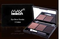 Wholesale Eyebrow Coloring - 12PCS BOX 3 Color Eyebrow Powder Wholesale 3 Groups Color Optional Durable Easy Coloring Colour Makeup