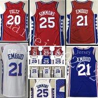 Wholesale Top Sale Cheap Jerseys - 2017-2018 New #25 Ben Simmons 21 joel embiid jersey 17-18 Top Men 20 Markelle Fultz jerseys Cheap sales 100% stitched