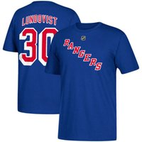 Wholesale Ranger Crew - 17-18 new season NHL New York Rangers AD 30 Lundqvist 27 McDonagh 36 Zuccarello ANY CUSTOM Name and Number Player t-shirt