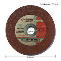Wholesale Grind Disc - 100mm * 2mm Resin Grinding Wheel Cutting 38g piece Custom Corundum Dishes Green Black Red Resin Disc 600pcs box