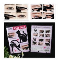 Wholesale Cat Stocks - STOCK Newest Cat Line Cat Eyeliner Stencil Cat Line Matte PVC Material Repeatable Use Eyeliner Template Plate DHL free shipping