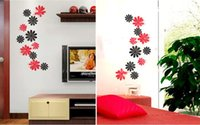décorations murales décalcomanies achat en gros de-Livraison gratuite 20117 Nouveau style amovible PVC Stickers muraux Decal Leaf 3D Art mural Décorations murales à couleurs mixtes