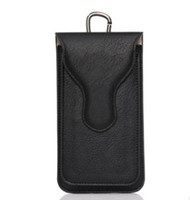 Wholesale Synthetic For Belt - For iphone 7 plus Universal PU Leather Cases Outdoor Dual Bags Waist Belt Pouch Holder Phone Case For iphone 6 6s