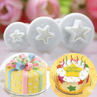 Wholesale Wilton Baking Wholesale - wilton baking accessories plastic 3pcs star shape cupcake mold christmas wedding sugarcraft fondant cutter cake decorating tools