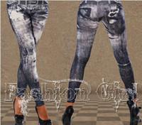 Wholesale Knit Leggings Pattern Free - Seamless leggings tattoo coloured drawing or pattern Nine minutes of pants imitation cowboy leggings imitation cowboy 07