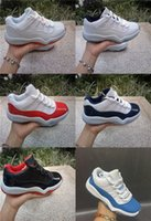 Wholesale Kids Halloween Shoes For Girls - 2017 Children Youth Retro 11 Low UNC University Blue Black Basketball Shoes Blue White Carolina Kids Sneakers For Boys And Girls Shoes