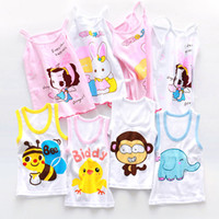 Wholesale Cotton Spaghetti Strap Summer Top - Cute Summer Cartoon Vest For Children Kids Cotton Vest Spaghetti Strap Tanks Boys Girls Clothes Camis Tops