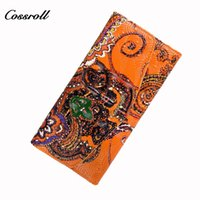 Wholesale Vintage Money Clips - 2017 New Vintage Womens Wallets and Purses Luxury Brand Design Women Wallet Money Clip Purse for Woman Monedero Mujer A010