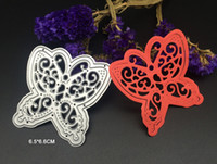 Wholesale Decorative Framed Butterflies - 3D Butterfly big size metal cutting dies stencils Scrapbooking frame envelope decorative festival Xmas steel template cut dies