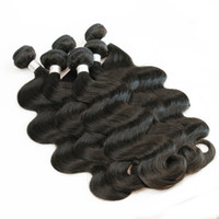 ingrosso capelli umani vergini per la tessitura-1 kg All'ingrosso 10 Bundles Raw Virgin Capelli Indiani Tessuto Diritto Del Corpo Profondo Ricci Colore Marrone Naturale Lordo Tessuto Dei Capelli Umani 10-26 pollici