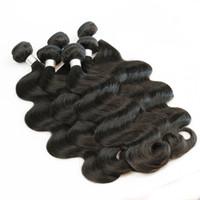 cabelo castanho ondulado venda por atacado-1 kg Atacado 10 pacotes Raw Indiano Weave Cabelo Liso corpo profundamente Curly Natural Castanho Cor não transformados Humano Weave Cabelo 10-26 polegadas