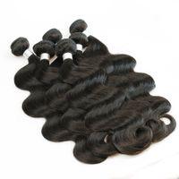 tejido de pelo al por mayor-1 kg Venta al por mayor 10 paquetes de la armadura del pelo indio virgen sin procesar cuerpo recto rizado profundo Color marrón natural sin procesar armadura del pelo humano 10-26 pulgadas