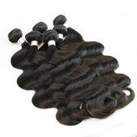 cheveux bouclés pour le tissage achat en gros de-1kg En Gros 10 Bundles Raw Virgin Indian Hair Weave Droit Corps Deep Curly Naturel Brun Couleur Non Transformés Armure de Cheveux Humains