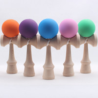 Wholesale Toy Sword Rubber - Fashion Funny Rubber Paint Kendama Japanese Traditional Wood Game Skill Ball 18.5 cm Sword ball Toy for Children