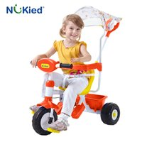 Wholesale Cart Bike - NUKied Baby pram child tricycle trolley baby multifunction beach umbrella Music bike Mother controls the direction cart