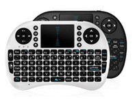 Wholesale Cs918 Free Dhl - Rii Air Mouse Wireless Handheld Keyboard Mini I8 2.4GHz Touchpad Remote Control For MX CS918 MXIII M8 TV BOX Game Play Tablet DHL Free